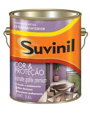 Suvinil Cor e Proteção Esmalte Grafite 3,6 L