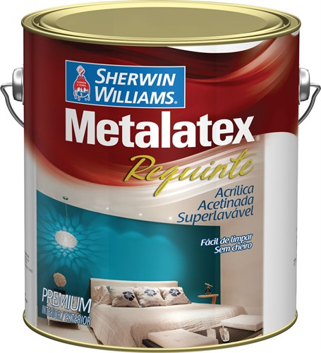 Sherwin Williams Metalatex Requinte Acetinado Branco 3,6L