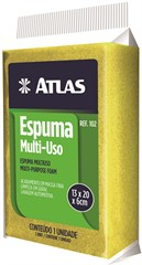 Atlas Espuma Multiuso Amarela 102 - 13x20