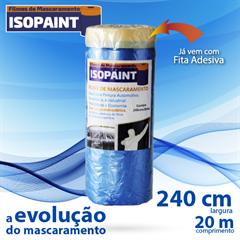 Nauber Filme Mascaramento Isopaint Azul 240CM X 20M
