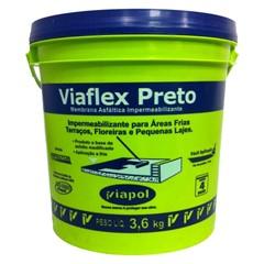 Viapol Viaflex Preto 3,6 L