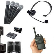 Aluguel de equipamentos de áudio