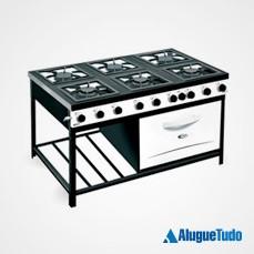 Aluguel fogão industrial de 6 bocas com forno