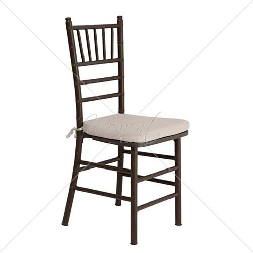 Locação cadeira Tiffany marrom de alumínio