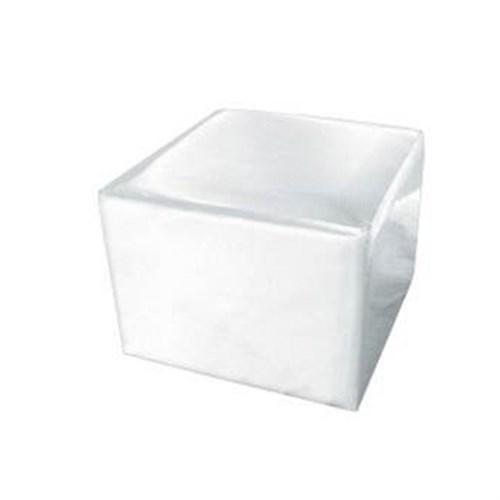 Locação Puff Quadrado Branco 70x70cm