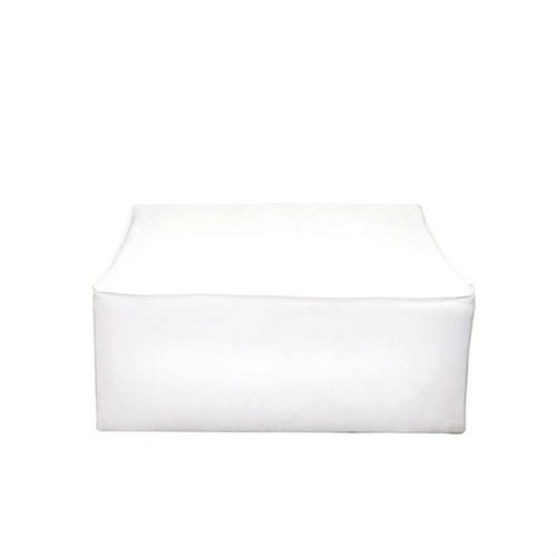 Locação Puff Quadrado Branco 1x1m