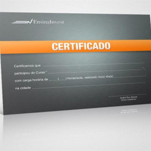 Certificados impressos