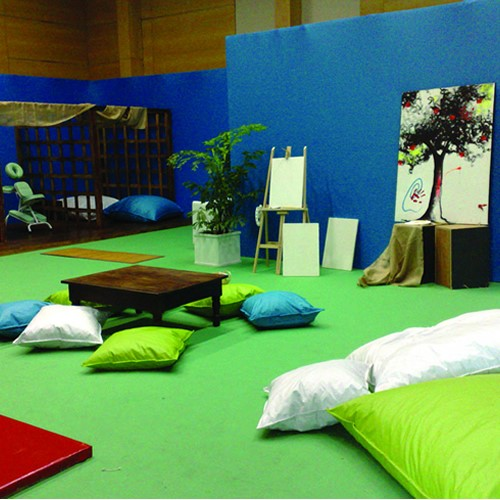 Espaço relaxante para Camarote