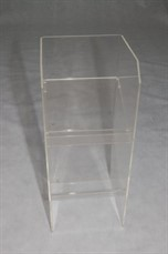 Locação de porta folder acrílico cristal