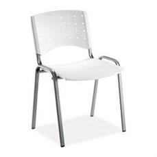 Cadeira cromada com banco de plástico