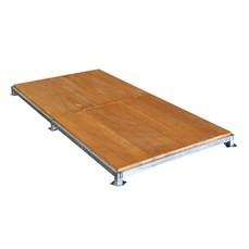 Piso de madeira modular