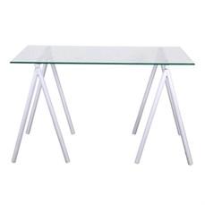 Locação mesa retangular de vidro