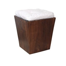Locação Puff base de madeira