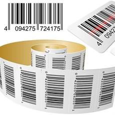 Credenciamento com código de barras em etiquetas de papel