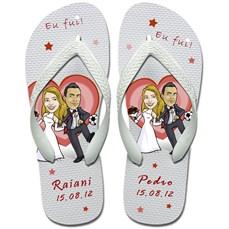 Sandália personalizada para casamentos