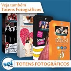 Exibição de fotos em telão