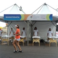 Tenda SPA para eventos esportivos