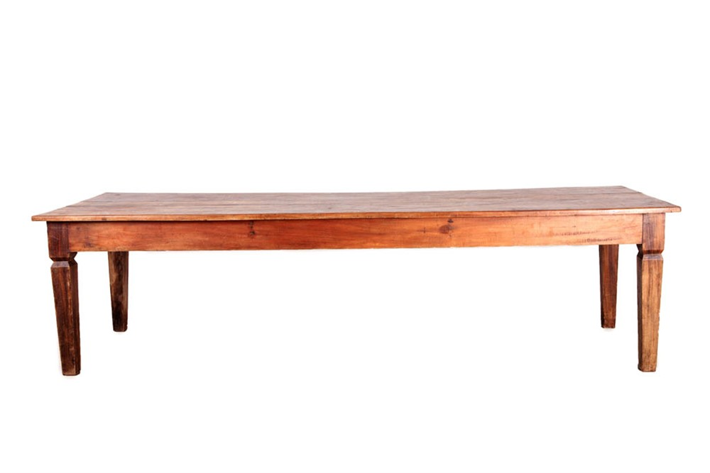 Mesa r stica de madeira retangular 3x1 fornecedores - Mesas de noche rusticas ...