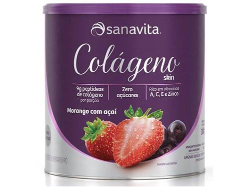 Colágeno Hidrolisado Sanavita - Morango e Açaí
