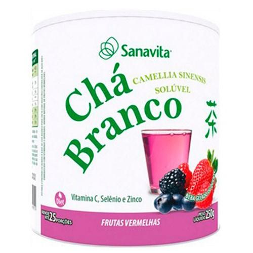 Chá Branco Solúvel Sanavita - Frutas Vermelhas