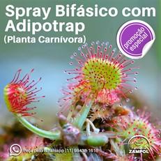 Spray bifásico com Adipotrap (planta Carnívora)