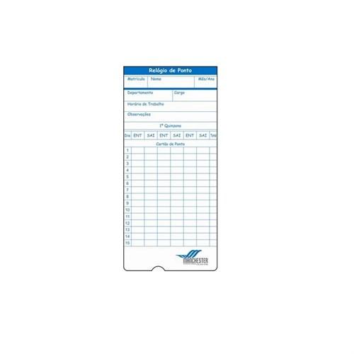 Cartão de Ponto para Relógio Cartográfico (embalagem 100 unidades)