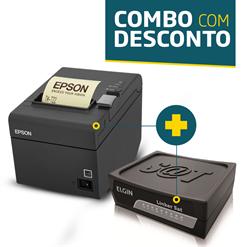 Impressora Epson TM-T20 + SAT Fiscal Elgin Linker