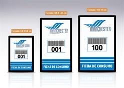 Comanda de Consumo Personalizável com Numeração e Código de Barras