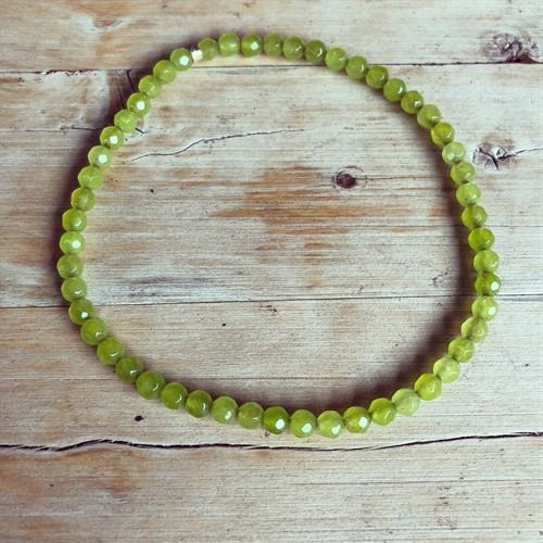 TN.2 - Tornozeleira pedras jade Verde Limão