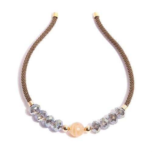 TR.T5 - Tiara cristais e Quartzo rutilo com metais banhados a ouro