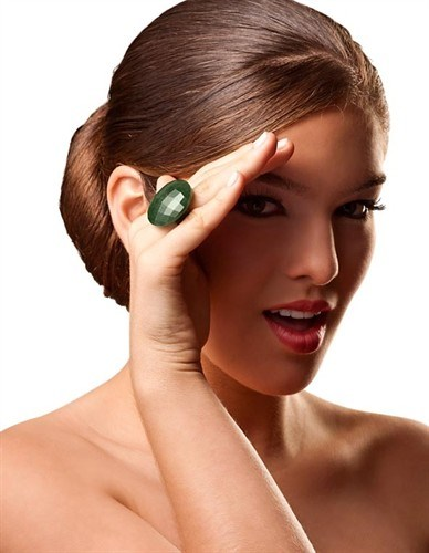 LRL.A11 - Anel de Pedra natural Quartzo Verde