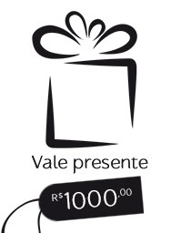 Gift Card R$ 1.000,00 - Vale presente Mãos da Terra