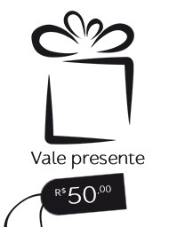 Gift Card R$ 50,00 - Vale presente Mãos da Terra