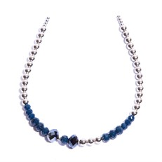 CT.T2 Tiara cristais azuis e metais paladio