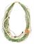 LR.C05 Colar fibra naturais, cascalho de pedra natural Citrino, pedra natural de Cristal rutilado e canutilhos de cerâmica.