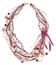 LR.C36 Colar fibras naturais, fios de Rami, fios de sisal, fios de camurça, esferas de Pedra Sabão, esferas de madeira, fitas de cetim e cascalho de pedra natural Ametista.