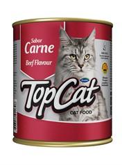 Compre 12 - Ração Top Cat Lata Carne - 280gr