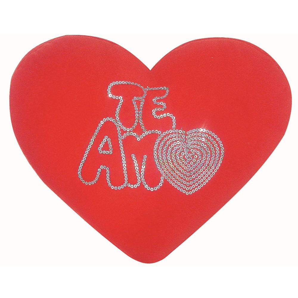 Coração Te Amo Lantejoula
