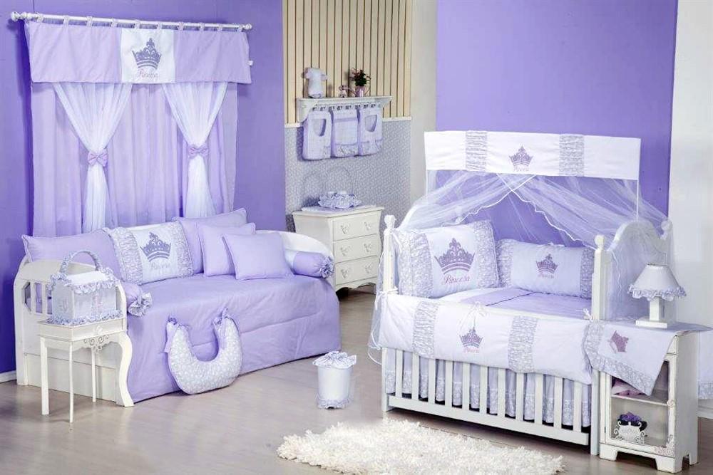 Quarto Completo para Bebê Princesinha Lilás Comprar  ~ Quarto Rosa E Lilas De Bebe
