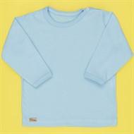 Camiseta de Bebê Manga Longa Basic Azul Bebê