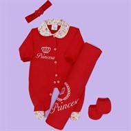 Kit Saída de Maternidade Princesa Vermelho