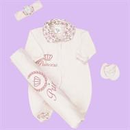 Kit Saída de Maternidade Princesa Rosa