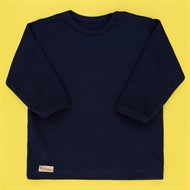 Camiseta de Bebê Manga Longa Basic Marinho
