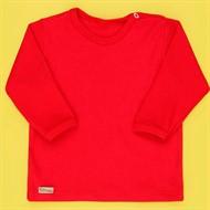 Camiseta de Bebê Manga Longa Basic Vermelha