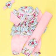 Saída para Maternidade Rosa Floral