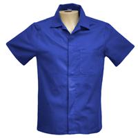 Camisa Aberta Manga Curta