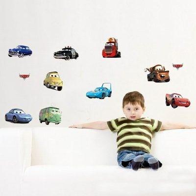 Adesivo Papel De Parede Carros Infantil Removível - 20 Peças