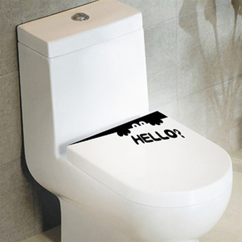Adesivo Criativo Divertido Para Banheiro - Vaso Sanitário
