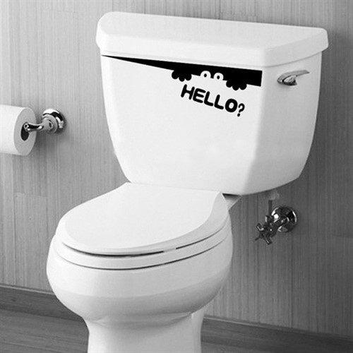 Armario Keter ~ Adesivo Criativo Divertido Para Banheiro Vaso Sanitário