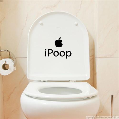 Adesivo Apple Ipoop Para Banheiro Toilete